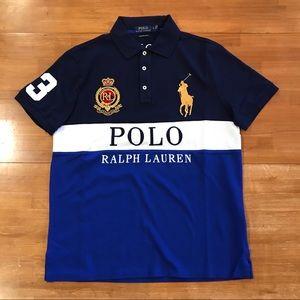 POLO RALPH LAUREN Tri-Color Big Pony Polo Shirt
